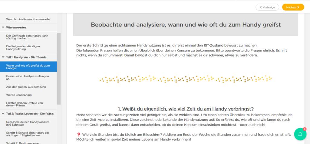 """Onlinekurs """"Handy aus! Reales Leben ein!"""" Die Glücksfinderin Glücksblog"""